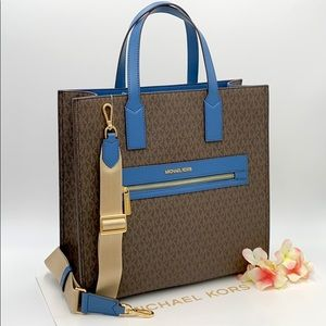 MICHAEL KORS KENLY LARGE NORTH SOUTH TOTE DK CHBRY